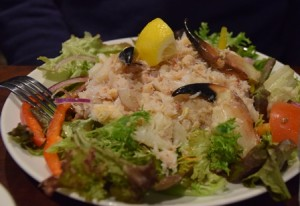 This crab salad is the dog's bollocks!