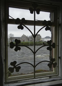 The River Corrib from a window on the quay in Galway