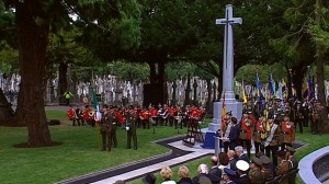 BBC photo of the Glasnevin unveiling on 31 July 2014 to commemorate 100 years since the Great War began