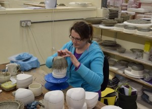 Preparing pieces for the KILL-un at the Belleek factory in County Fermanagh