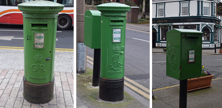 """George V"" in Cork, ""Edward VII in Sandymount, and modern generic in Sandymount"