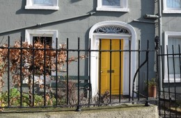 39 The Gray House with the Yellow Door