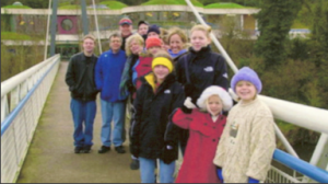 Most of the Cozzens family at Newgrange--a 5000 year old tomb near Dublin--in December of 2001