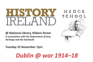 "History Ireland magazine holds frequent panel discussions at locations around the country, calling them ""hedge schools."""