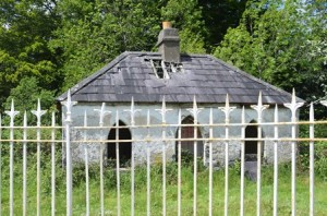 The gatehouse at Woodbrook, now a ruin